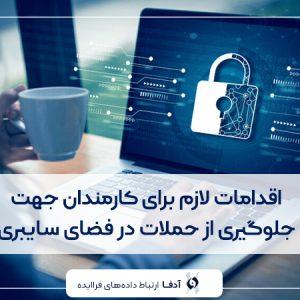 اقدامات لازم برای کارمندان جهت جلوگیری از حملات در فضای سایبری